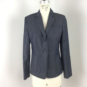❤️3/$35 J Crew Blazer Jacket Sz 8 Gray Wool